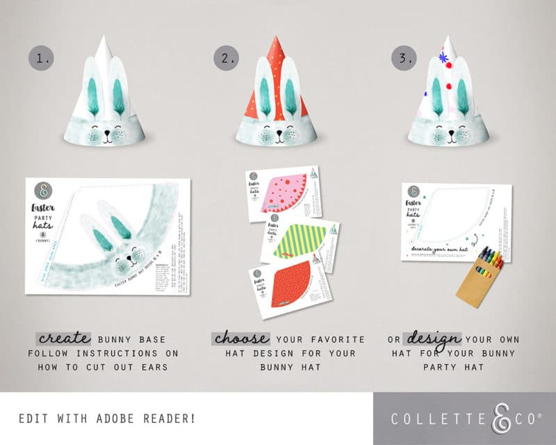 Easter Bunny Party Hat Printable Collette and co 4