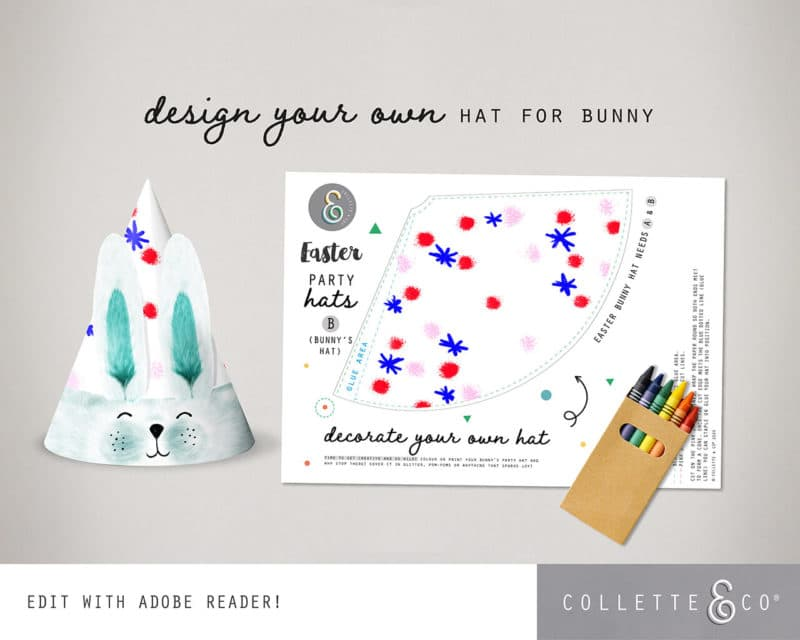 Easter Bunny Party Hat Printable Collette and co 5