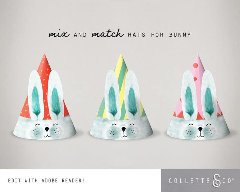 Easter Bunny Party Hat Printable Collette and co 6