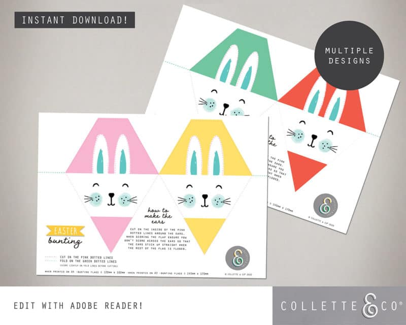 Easter Bunting Printable Collette and co 3