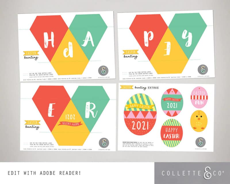 Easter Bunting Printable Collette and co 4