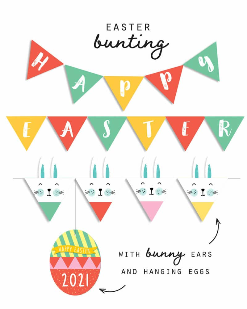 Easter Bunting Printable Collette and co 5