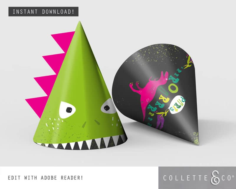 Pink Dinosaur Virtual Party Pack Collette and Co 3