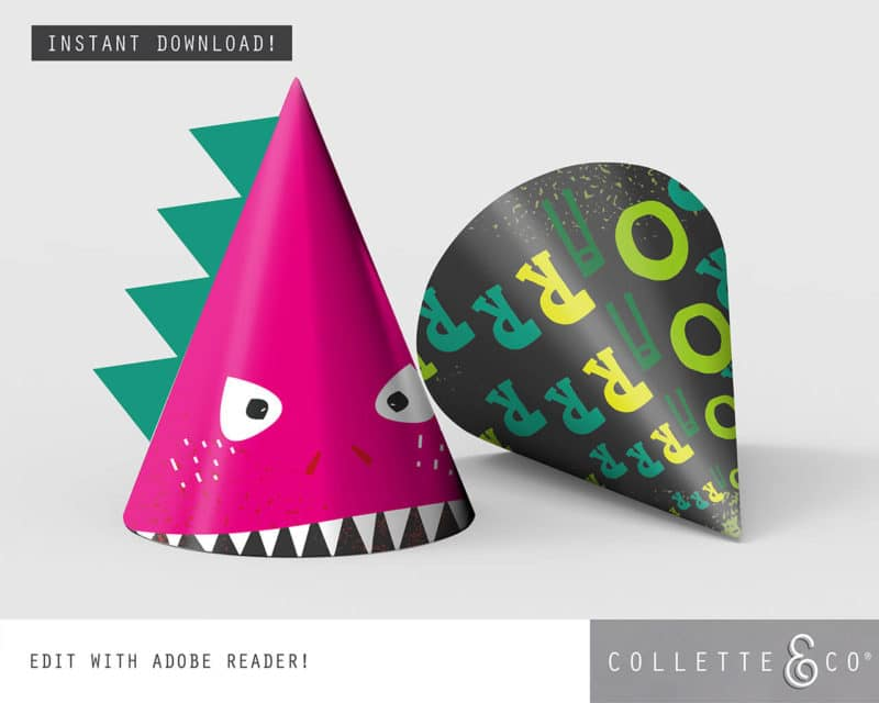 Pink Dinosaur Virtual Party Pack Collette and Co 4