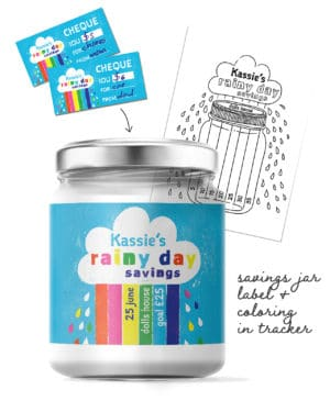 Pintable Label Savings Jar for Kids Collette and Co 1