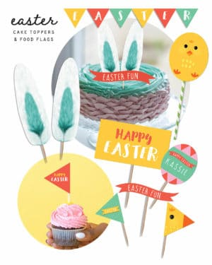 Easter Cake Toppers Food Flags Collette and co 3
